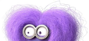 Purple Minion Makeup and Hair