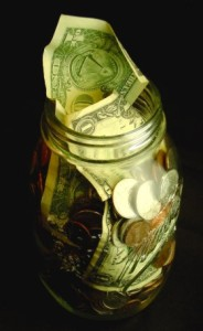 Money in Mason Jar