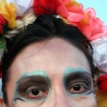 Woman with multi-colored Rose Crown