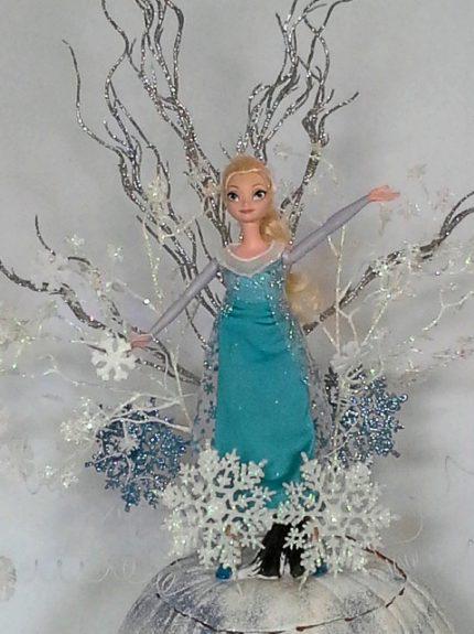 Disney frozen inspired elsa pumpkin centerpiece
