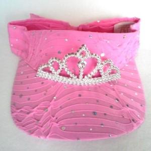 Make a Sparkly Pink Tiara Visor