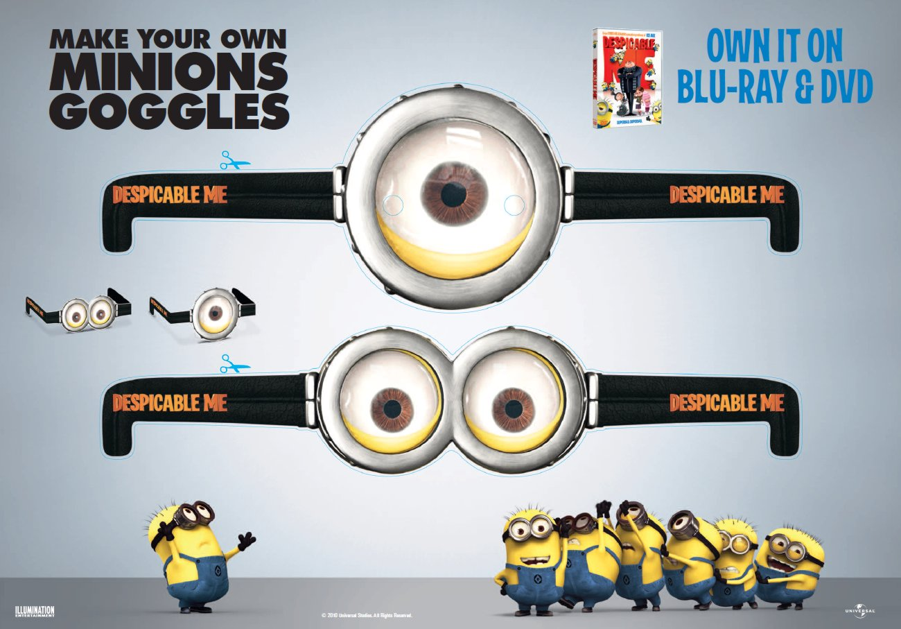 Magic image regarding printable minion goggles