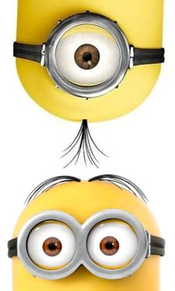 photo relating to Minions Eyes Printable titled Do it yourself Yellow Minion Costumes the the Foolish Kinds