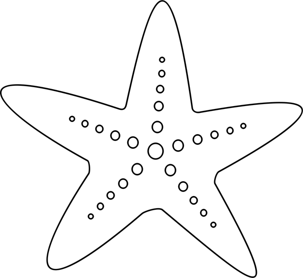 Starfish template adapted from Starfish by Irlandia on Openclipart ...