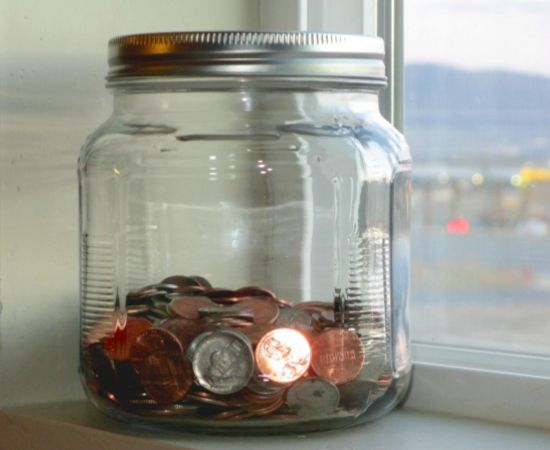Coin Jar in a Window