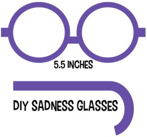 DIY Sadness Glasses Template