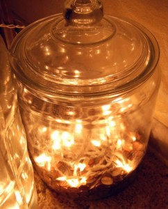 Illuminated coin jar