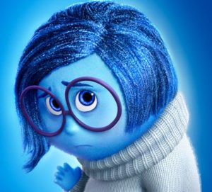 Sadness Glowing from Inside Out