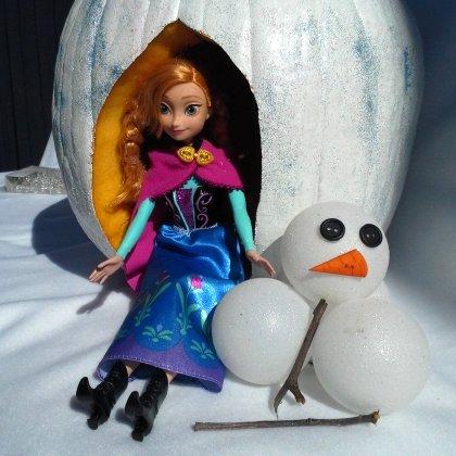 Disney Frozen Inspired Anna Pumpkin Centerpiece